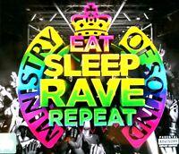 EAT SLEEP RAVE REPEAT - 3X CDS MIXED HOUSE TRANCE DRUM & BASS TRAP CD CDJ DJ MOS