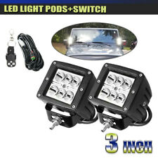 "2pcs 3""inch 18W LED Work Light Cube Pods Driving Work Fog lights SUV ATV"