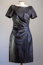 TALBOT RUNHOF DRESS BLACK STRETCH LEATHER 40/10