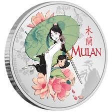 Niue - 2 Dollar 2021 - Disney™ - Mulan™ - in Farbe - 1 Oz Silber PP