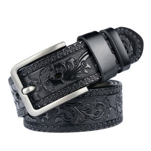 New Carved Craft Men's Belt Personality Fashion Jeans Belt