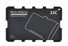 MCH-MSD10 Credit Card Size Memory Card Holder Hard Case for 10x Micro SD -Grey