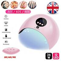 36W Professional UV Nail Lamp LED Light Nail Dryer Gel Curing Machine 3 Timers