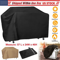 "57"" BBQ Gas Grill Cover Barbecue Protection Waterproof Outdoor Anti-UV 2-Colors"