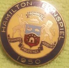 HAMILTON BONSPIEL 1950 CURLING CLUB  CURLING PIN