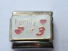 FAMILY OF 3 ITALIAN CHARM  fits all makes of Italian bracelet AK18