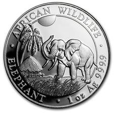 ELEPHANT 2017 SOMALIE 100 SHILLINGS 1 Once argent .999 lingot $ silver oz ounce