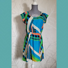 Silence + Noise Women's Colorful Abstract Print Dress | Size M | Mesh Racerback