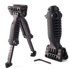 Tactical Vertical Fore Hand Grip Bipod Picatinny Rail Rifle Weaver Adjustable