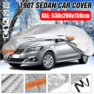 Heavy Duty 17ft Full Sedan Car Cover All Weather Protector Waterproof Outdoor US