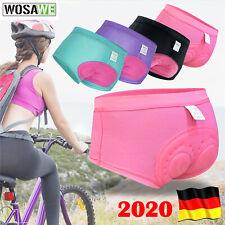 Qiuxiaoaa Damen 3D gepolsterte MTB Bike Shorts Fahrradunterhose Tropical Leaf Fahrradhose Fahrradunterw/äsche Blau Pink