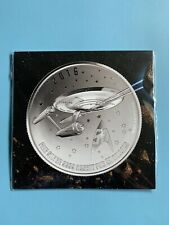 RCM 2016 $20 Star Trek: Enterprise Coin Pure Silver Coin, New In Packaging