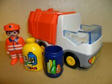 PLAYMOBIL 123 SERIES RECYCLE TRUCK 6774 Complete (1 2 3,Rubbish Lorry)