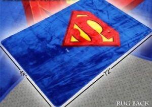 Licensed DC Comics Superman Shield Man of Steel Soft Area Rug 4'x6' Feet Carpet