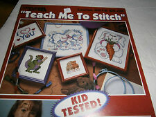 1994 Teach Me To Stitch Cross Stitch Pattern Book Learn How To Instructions