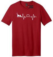 Love Cat Heartbeat Mens V-Neck T Shirt Cat Lover Kitten Animal Cat Graphic Tee