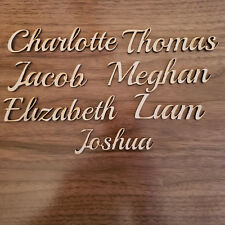 Script  Personalised names, letters or words Wedding Book, Art Wooden MDF Guest