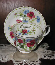 Royal Albert  FLOWERS OF THE MONTH Cup/Saucer August