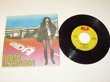 """LOREDANA BERTE' """"GRIDA/RICOMINCIARE"""" disco 45 giri CGD Italy 1977"""