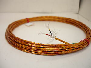 25 feet 22 AWG Shielded Silver Plated Polyimide Film Kapton  Wire 2 Twisted SPC