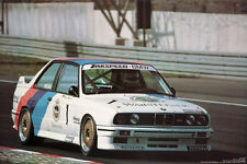 BMW M3 World Championship /Tour - 1987 Original Out of Print  Car Poster. Own It