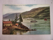 Vintage Postcard Columbia River Showing Lone Rock Near Cape Horn, Oregon Unused