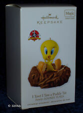 2010 Hallmark I TAWT I TAW A PUDDY TAT Tweety Looney Tunes MAGIC Sound Ornament