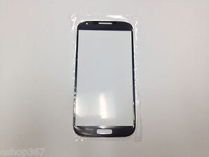 Blue Front Outer Screen Glass Lens for Samsung Galaxy S4 GT-9500 i337 (S4Blue)
