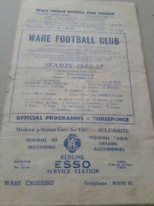 Ware v Hendon Amateur Cup 1st Round 1956/57