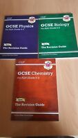 Grade 9-1 GCSE AQA Revision guides Biology Physics Chemistry 3 Books Set