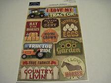 Scrapbooking Crafts Karen Foster Stickers Love My Tractor Farm Farmer Hay Ride