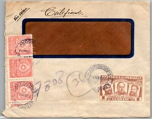 GP GOLDPATH: PARAGUAY COVER 1956 AIR MAIL _CV523_P17