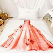 3D Princess Dress Girls Duvet Cover Quilt Cover Twin Comforter Cover PillowCase