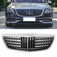 S-Class W222 Chrome Front Hood Maybach Style Grill for Mercedes Benz S350 14-19