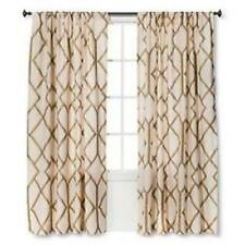 Threshold Metallic Gold Trellis Window Panel Curtain 54 X 84