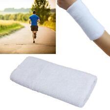 Unisex Cotton Sweat Band Wrist Sweatband Arm Band Basketball Tennis Gym White #M
