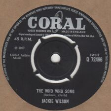 Jackie Wilson The Who Who Song Coral Q72496 Soul Northern motown