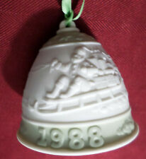 Vintage First Annual Lladro Christmas Bell Porcelain Bisque Ornament 1988