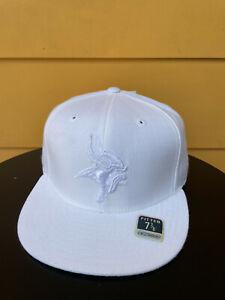 NEW MINNESOTA VIKINGS NFL CLASSIC REEBOK FITTED CAP BASEBALL HAT WHITE