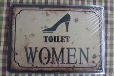 Women Toilet Design Metal Sign Painted Poster Hobby Wall Decor Art Home Shop Pub
