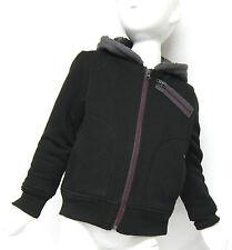 BC Clothing Boys' Black & Grey Hooded Jacket, XS 3-4 years, Fleece Lined Hoodie