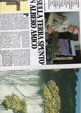 SP56 Clipping-Ritaglio 1986 Carlo Mattioli E sulla terra spuntò un albero amico
