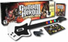 PS2 Guitar Hero 3 III Legends of Rock Video Game + WIRELESS GUITAR Guns N' Roses
