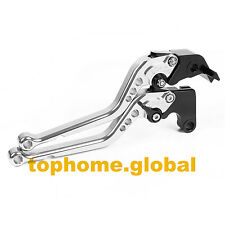 For Triumph Tiger 800/XC 2011-2014 Long Clutch Brake Levers CNC 2012 2013 Silver