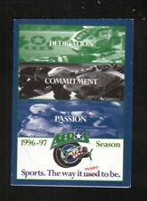 Houston Aeros--1996-97 Pocket Schedule--Chrysler Jeep Eagle--IHL