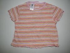 C & A süßes T-Shirt Gr. 62 orange geringelt !!