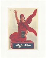 Agfa-cinepresa fotografia marchio pubblicità Manifesto DAMA STAMPA D'ARTE MANIFESTO MONDO 354