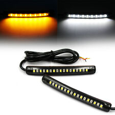2 pcs Flexible 17 LED DRL Daytime Running Turn Signal Strip Light Tail Light