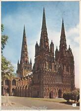 Postcard: Lichfield Cathedral, Lichfield, Staffordshire - The West Front (1950s)
