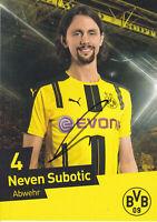 Neven SUBOTIC - Serbien, Borussia Dortmund 2016/17, Original-Autogramm!